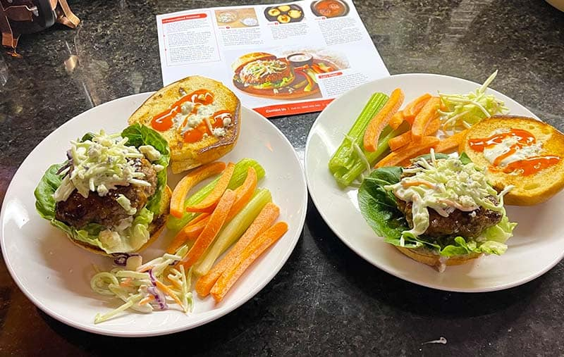 Buffalo-Style Burger