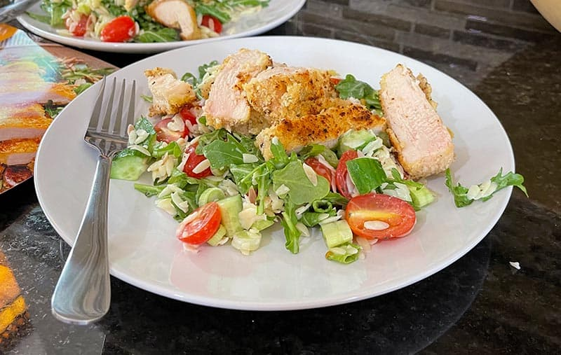 Parmesan-Crusted Chicken Meal