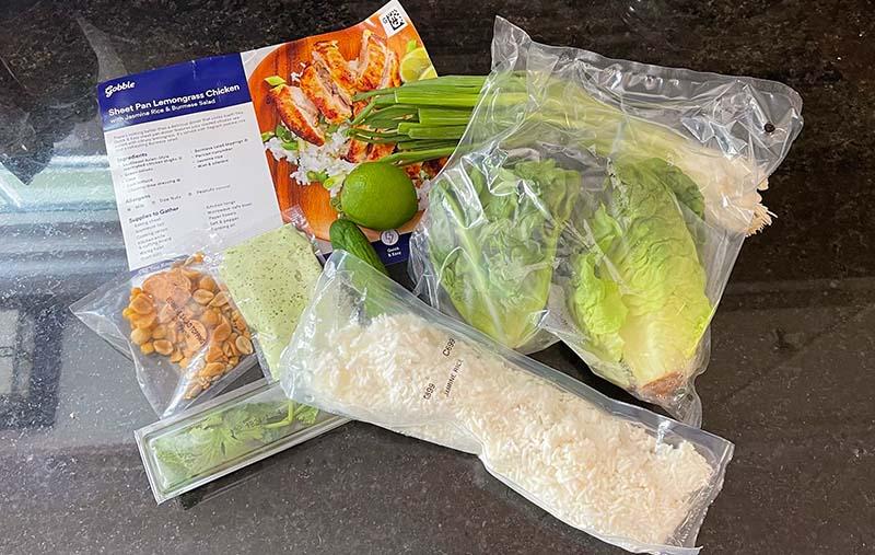 Gobble Sheet Pan Lemongrass Chicken Ingredients