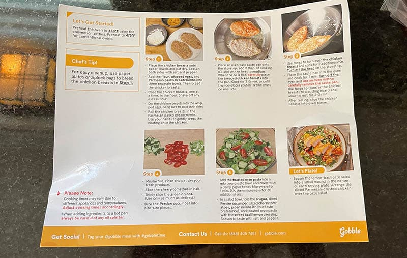 Back Of The Gobble Recipe Card