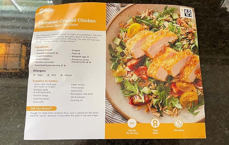 Front Of The Gobble Recipe Card
