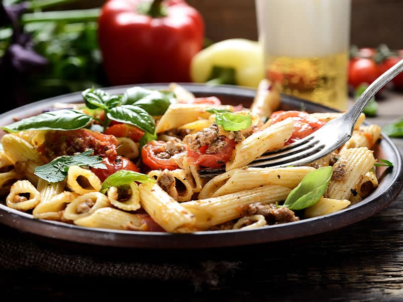 Premade Meal Delivery Pasta Dish